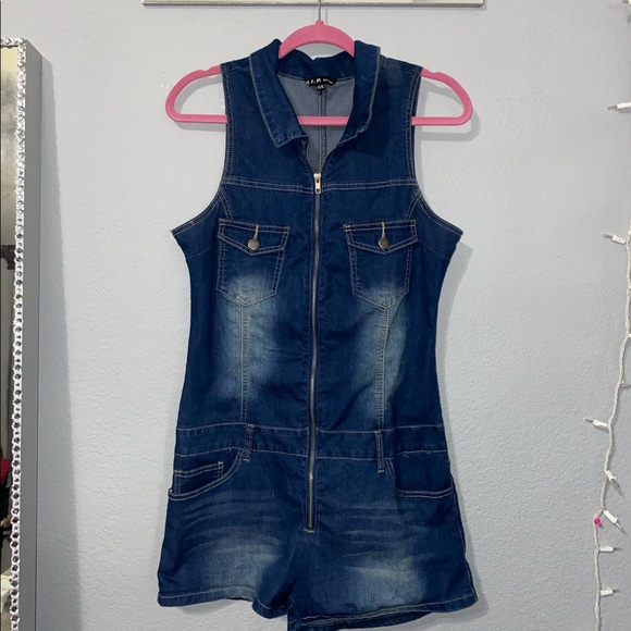 Blue Denim Romper, Never Worn Before!!